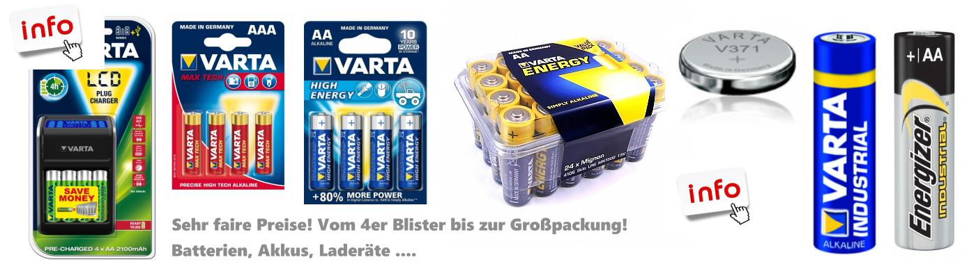 Akkus-Batterien